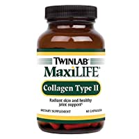 Twinlab MaxiLife Collagen Type II | 60 Capsules | Dietary Supplement with Hyaluronic Acid | Supports Healthy Joint Function and Skin Protection