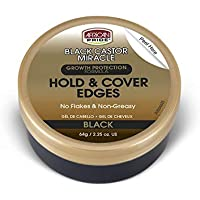 African Pride Black Castor Miracle Hold & Cover Edges - Slicks Edges, Covers Grays, Fills Thinning Areas, Contains Black Castor Oil & Coconut Oil, 2.25 oz