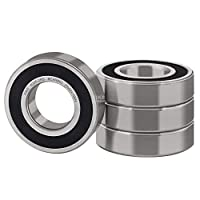uxcell 205PP Ball Bearing 25x52x15mm Double Sealed 6205-2RS Deep Groove Bearings
