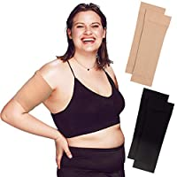 Arm Shapers For Women - Upper Arm Compression Sleeve To Help Tone Arms - Slimming Arm Wraps For Flabby Arms - Helps Shape Upper Arms Ideal For Arm Fat - 2 Pairs ( Black + Beige )