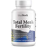 Blue Stork Total Men's Fertility: Male Fertility Support with Horny Goat Weed, Sperm Production + Reproductive Health, 60 Vegetarian Capsules