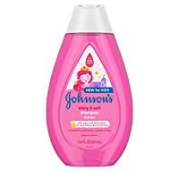 Johnson's Shiny & Soft Tear-Free Kids' Shampoo with Argan Oil & Silk Proteins, Paraben-, Sulfate- & Dye-Free Formula, Hypoallergenic & Gentle for Toddler's Hair, 13.6 fl. oz