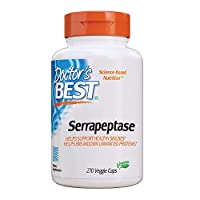 Doctor's Best Serrapeptase, Non-GMO, Gluten Free, Vegan, Supports Healthy Sinuses, 40,000 SPU, 270 Count (Pack of 1)