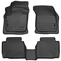 CARORMOKE Waterproof Car Carpet Floor Mats Rubber Trunk Mats All Weather Mats Floor Liners Black Compatible with 2012-2018 Ford Focus