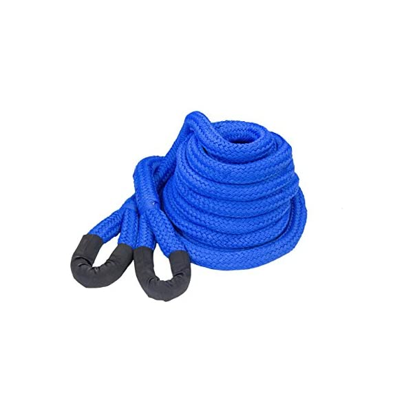 DitchPig 447521 Kinetic Energy Vehicle Recovery Double Nylon Braided Rope with Tote Bag 7//8 x 20