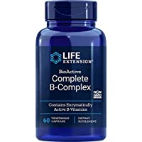 Life Extension Bio Active Complete B Complex  60 Veg Caps (packaging may vary)