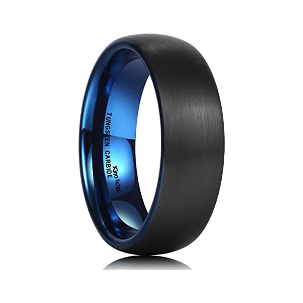 Unisex 5mm Classic Domed Tungsten Carbide Wedding Band