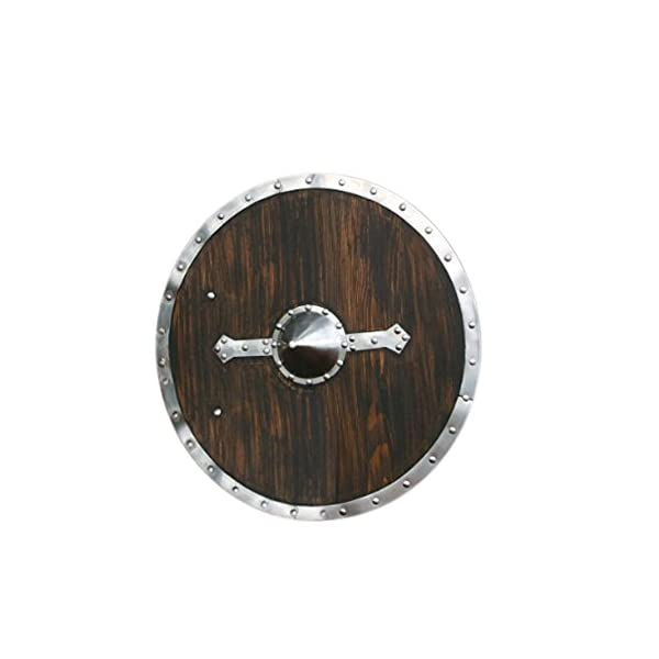 Thor Viking Bjorn Norman Combat Shield Black//Red One Size THORINSTRUMENTS with device