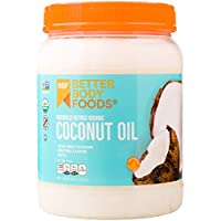 BetterBody Foods Organic Naturally Refined Coconut Oil with Neutral Flavor and Aroma, 56 Ounce
