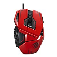 Mad Catz M.M.O.TE Tournament Edition Gaming Mouse for PC -Red