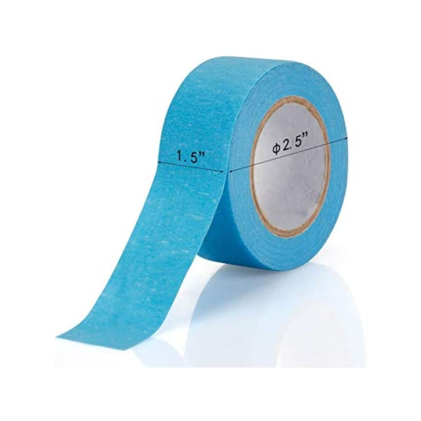 1.5 Inch Wide Craft Rainbow Masking Tape Labeling Tape Roll for DIY 8 Colors Art 8 Roll Colored Masking Tape Coding and Labeling 80 Yards Total