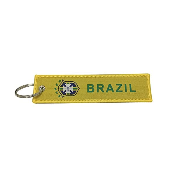 1pcs Blue Color Worldcup Football Team France Tag Keychain Gifts For France Fans Nice Tagg