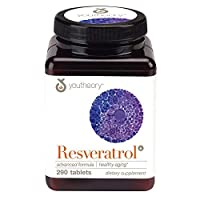 Youtheory Resveratrol Advanced with resVida, 290 Count (1 Bottle)