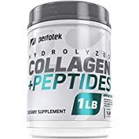 Hydrolyzed Collagen Peptides Powder Pasture Raised Cattle Non-GMO Grass-Fed Gluten-Free Unflavored and Easy to Mix - Premium Beef Protein Keto Diet (1 LB)