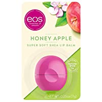 eos Super Soft Shea Sphere Lip Balm - Honey Apple | Deeply Hydrates and Seals in Moisture | Sustainably-Sourced Ingredients | 0.25 oz (Packaging May Vary)
