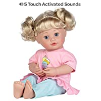 Adora Interactive Doll, 15 inch My Cuddle & Coo Baby Sweet Dreams, 5-Touch Activated Features - Cries, Coos, Giggles, Kisses Back & Says Momma, Pink, Model:
