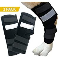 Dasksha Dog Leg Brace for Hind Leg - Check Size Guide - 2 Pack - Used as Hind Leg Support for Arthritis, Stability After Injury, Dog Hock Support