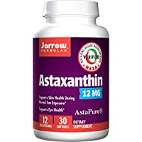 Jarrow Formulas Astaxanthin, A Natural Antioxidant Carotenoid Supports The Skin, Eyes & Immune Health*, 12 mg, 30 Softgels