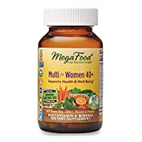 MegaFood, Multi for Women 40+, Supports Optimal Health and Wellbeing, Multivitamin and Mineral Dietary Supplement, Gluten Free, Vegetarian, 60 tablets (30 servings)