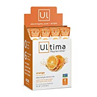 Ultima Replenisher Electrolyte Hydration Powder, Orange, 20 Count Stickpacks - Sugar Free, 0 Calories, 0 Carbs - Gluten-Free, Keto, Non-GMO with Magnesium, Potassium, Calcium, 2.4 Ounce (Pack of 1)