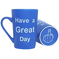 MAUAG Funny Christmas Gifts - Porcelain Coffee Mug Have a Great Day Cute Cool Ceramic Cup Light Blue, Best Father's Day and Mother's Day Gag Gifts, 12Oz