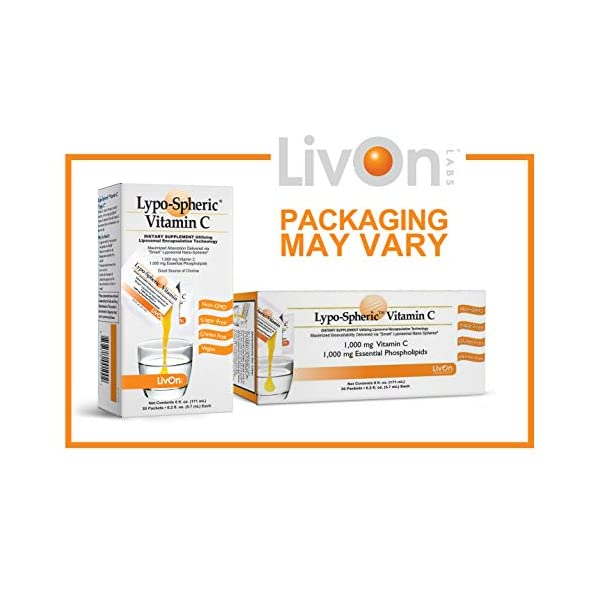 Lypo–Spheric Vitamin C – 12 Cartons (360 Packets) – 1,000 mg Vitamin C & 1,000 mg Essential Phospholipids Per Packet – Liposome Encapsulated for Improved Absorption – 100% Non–GMO