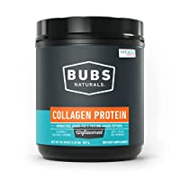 BUBS Naturals Collagen Peptides Pasture Raised Grass-Fed|Paleo & Keto Friendly|Whole30 Approved|Non-GMO | Dairy-Free Gluten-Free | Mixes Easy|Unflavored Collagen Powder (20oz Container)| 28 Servings