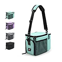 RitFit Insulated Lunch Box- Large Capacity Meal Prep Bag for Work, School or Road Trips, Suitable for Adults and Kids- Come with Adjustable Strap, Ice Packs, and Containers (Tiffany Blue)