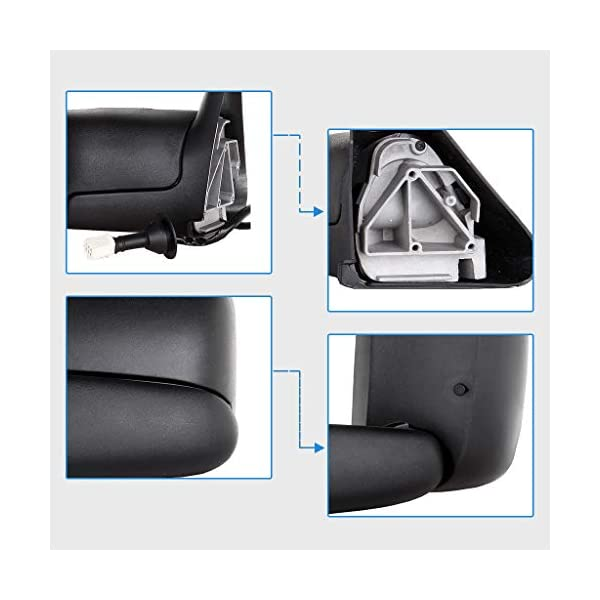 Tow Mirrors Fit for 1998-2001 Dodge Ram 1500 & 1998-2002 Dodge Ram ...