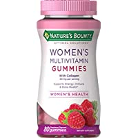 Women's Multivitamin by Nature's Bounty Optimal Solutions, Multivitamin Gummies for Immune Support, Energy Suppoprt, Bone Health, Raspberry Flavor, 80 Gummies