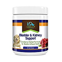 K9 Bladder Support for Dogs - Cranberry Urinary Tract Dog UTI Treats Incontinence Control Pills - no More Antibiotics Medicine for Infection Treatment - Kidney Supplement 55 Chews Senior Vitamins
