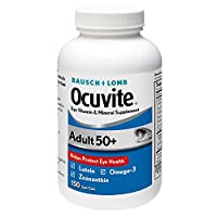 Bausch + Lomb Ocuvite Adult 50+ Vitamin & Mineral Supplement with Lutein, Zeaxanthin, and Omega-3, Soft Gels (150 Count) iiiIII