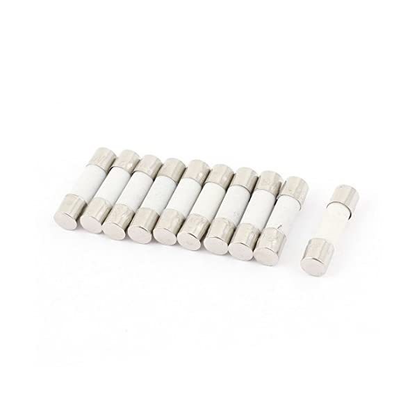 Uxcell a14110300ux0240 100 Pcs 250V 2A F2AL Quick Fast Blow Glass Tube Fuses 5 x 20mm Pack of 100