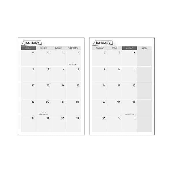 Monthly /& Weekly Calendar Refill For A5 6-Ring Binder Planner 2020 Calendar Planner Inserts 21Cm X 14Cm Loose-Leaf Compatible With Filofax Weekly /& Monthly View To June 2021