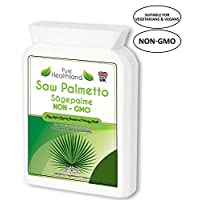 Reduce Frequent Urination! Non-GMO Saw Palmetto Supplement Capsules for Men's Prostate Health - High Quality & Potency 2500mg Prostate Support Formula Suitable for Vegans Vegetarians - Made in UK