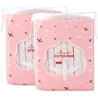 MEILAMEI Face CottonPadsForWomen,Hypoallergenic Lint-Free Makeup Remover Pads,100% Pure Cotton,Chemical Free,Biodegradable Cotton For girls(444 Count).