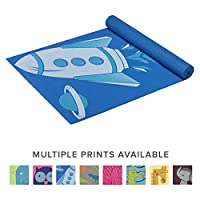 Gaiam Kids Yoga Mat Exercise Mat, Yoga for Kids with Fun Prints - Playtime for Babies, Active & Calm Toddlers and Young Children (60