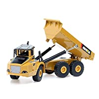 duturpo 1/50 Scale Diecast Articulated Dump Truck, Metal Engineering Vehicle Construction Models Toys for Kids (Articulated Dump Truck)