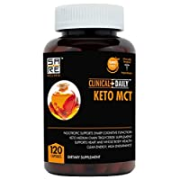 MCT Oil Keto Diet Supplement, Non GMO 3000mg. 120 Liquid Capsules with Natural Nootropic Support for Clean Energy Brain Power. Fat Burner for Men and Women, Promotes Healthy Weight Loss, Hair & Skin