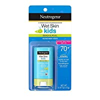 Wet Skin Kids Water Resistant Sunscreen Stick for Face and Body, Broad Spectrum SPF 70, 0.47 oz (Pack Of 3)