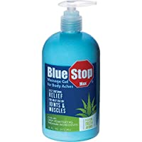 Blue Stop Max Massage Gel for Body Aches, Special 4 Pack ( 64 oz Total )