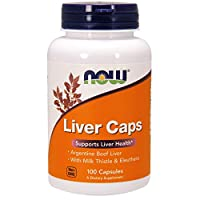 NOW Supplements, Liver Caps with Milk Thistle and Eleuthero, Supports Liver Health*, 100 Capsules