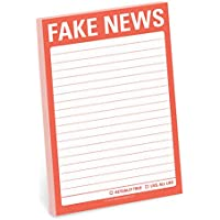 Knock Knock Fake News Great Big Sticky Notes, Funny Sticky Note Pad, 4 x 6-inches