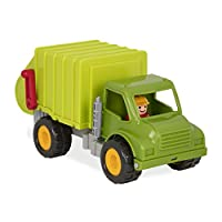 Battat - Garbage Truck with 2 Garbage Bins & 1 Driver - Toy Trucks for Toddlers 18M+ (4-Pcs), Lime Green, (Model: BT2512Z)