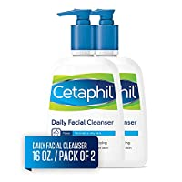 Cetaphil Facial Cleanser, Daily Face Wash for Normal to Oily Skin, 16oz (Pack of 2)