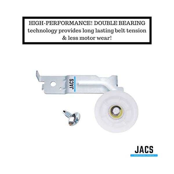 Jetec Dryer Repair Kit Compatible with Samsung Includes DC97-16782A Drum Roller 6602-001655 Tension Belt and DC93-00634A Idler Pulley Replace AP5325135 AP6038887 PS4221885 AP4373659 PS4133825