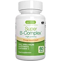 Super B-Complex – Methylated B Complex Vitamins, Folate & Methylcobalamin, Vegan, 60 small tablets