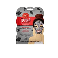 Yes To Tomatoes Anti-Pollution Detoxifying Charcoal Bubbling Paper Mask - Single Use | For All Skin Types | Charcoal and Oxygen To Help Rid Skin of Pesky Pollutants