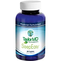 SleepEasy ™ - Insomnia & Stress Relief Supplement – Fast Sleep – Herbal Sleeping Pill – Contains 5-HTP, Vitamins, Herbs & Nutrients – Relaxation Optimization – Dietary Supplement - Side Effect Free - Physician Formulated & Clinically Tested - Guaranteed by Taylor MD Formulations