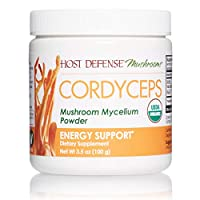 Host Defense, Cordyceps Mushroom Powder, Supports Energy, Stamina and Athletic Performance, Certified Organic Supplement, 3.5 oz (66 Servings)